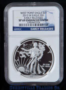 2013-w Silver Eagle West Point Ngc Early Release Enhanced Finish Sp69 Blue Label
