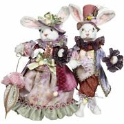 Mark Roberts 2021 Mr. And Mrs. Easter Rabbit Figurine 21-22 Inches Asst. Of 2