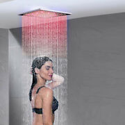 16 Inch Led Rainfall Square Shower Head Solid Square Overhead Sprayer