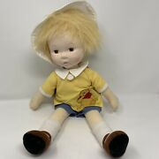 2009 Madame Alexander Christopher Robin And Pooh Cloth Doll Hand Painted 18