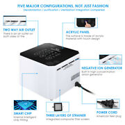 Air Purifier Desktop Negative Ion Air Cleaner Ionizer For Home Office Bedroom Us
