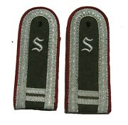 East German 1960and039s Stasi 2-year Offiziersschuler Shoulder Boards