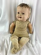 Vintage Authentic Cloth And Composite Creepy Doll Goth Haunted Halloween Horror 30