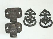 Antique Hoosier Cabinet Furniture Hardware Reclaimed Latches And Pulls