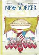 New Yorker Magazine Cover Only Weber July 7 1975 July 4 Parade Apple Pie