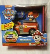 Paw Patrol Remote Control Fire Truck Marshall Engine Kids Boys Rc Vehicle Toy