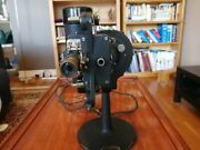 Bell And Howell 16mm Film Cinemachinery Movie Projector + Case + Original Oilandnbsp