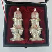 Vintage Corbell And Co Silverplate Ornate Salt And Pepper Shakers Tarnish Protected