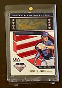 Bryant Packard 2019 Panini Stars And Stripes Logo Patch Gold Ink Auto /10