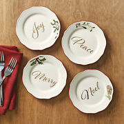 New Better Homes And Gardens Heritage Appetizer Plate - Set Of 4 - Holiday Ceramic