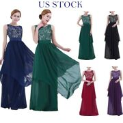 Women Ball Gown Lace Maxi Long Dress Wedding Bridesmaid Evening Cocktail Party