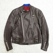 Lewis Leathers Aviakit Gt Monza Riders Brown Size 40 70s Vintage Men's Outerwear