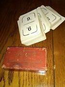 Vintage Flinch Card Game 1913 Parker Brothers Salem Ma Cards Red Box Played With