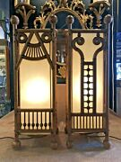 Pair Of Converted Victorian Eastlake Ball And Stick Cane Stand Table Lamps
