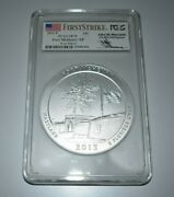 2013 Fort Mchenry Np 5oz Silver Pcgs Sp70 First Strike John Mercanti Signed