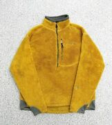 2003 Usa Made R2 Fleece Pullover Jacket Gold Menand039s L Rare Good Product