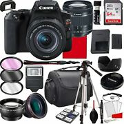 Canon Eos Rebel Sl3 Dslr Camera With 18-55mm F/4-5.6 Is Stm Zoom Lens, 64gb...