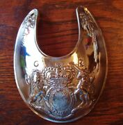Gorget Solid Heavy Thick Nickel Silver Repo Trade Engraved Fabulous Ii