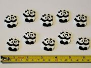 100 Nos Embroidered Panda Bear Patches Iron On Appliques