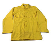 Vintage Firefighter Fire Resistant Aramid Shirt Xsmall Yellow Usfs Usdafs 80s