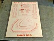 1959 Pittsburgh Pirates Forbes Field Layout All Star Game Poster Pizza Schedule