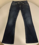 Silver Jeans Womens Tuesday Thick Stitch Distressed Denim 27x29