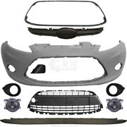 Set Of Bumper Front Primed+fog + Accessories For Ford Fiesta 6 Cb1 Year