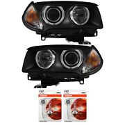 Xenon Headlight Set For Bmw X3 Year 06-10 Facelift Without Bending Light D1s+h7