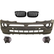Set Bumper Front+fog Bmw X5 E53 Year 03-07 For Pdc Only 3.0/4.4