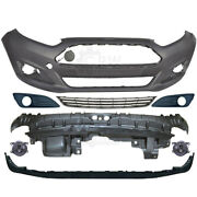 Set Bumper Front Primed+fog + Accessories For Ford Fiesta 6 Cb1 Year 12-