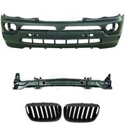Set Kit Bumper Front + Carrier+ Grill For Bmw X5 E53 Year 03-07 Only