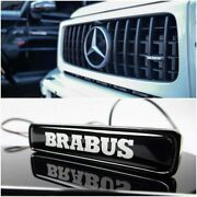 Mb G-wagon G63 G500 W463a Abs Front Grille Badge White Led