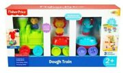 Fisher Price Dough Train Creative Toy 3 Animal Stampers And 3 Tubs Of Dough New