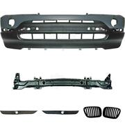 Set Of Bumper Front Primed + Carrier+grill+accessories For Bmw X5 E53 Year