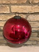 Pottery Barn Ornament Candle Large Red Christmas Decor Candle Pot New