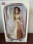 New Disney Store Limited Edition 17'' Doll Rapunzel Wedding Tangled Le Of 8000