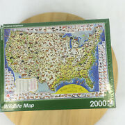 United States Pictorial Wildlife And Game Map Puzzle 2000 Pcs Ny Puzzle Co New