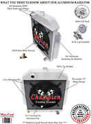 4 Row Super Champion Radiator W/ 16 Fan For 1949 - 1953 Ford Cars Chevy Engine