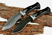Drop Point Knife Kukri Hunting Tactical Combat Survival Forged Steel G10 Handle