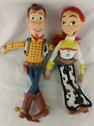 Set Toy Story Jessie And Woody 15 Talking Pull-string Doll Mattel No Hat I9