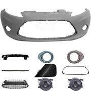 Set Kit Bumper Front For Ford Fiesta 6 Cb1 Year 08-12+carrier+accessories+