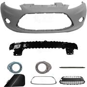 Set Kit Bumper Front For Ford Fiesta 6 Cb1 Year 08-12+carrier+accessories