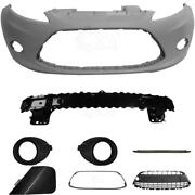 Set Kit Bumper Front For Ford Fiesta 6 Cb1 Year 08-12+carrier+accessories For