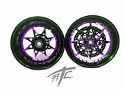 Gsxr Stock Size Black And Popsicle Purple Switchback Wheels 08-20 Gsxr 600 750