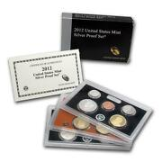 2012-s U.s. Silver Proof Set Complete 14-coin Set, With Box And Coa