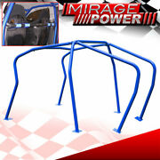 6 Point Racing Safety Anti Roll Cage Blue For Mkiv Vag Golf Gti 1999-2005