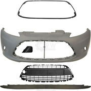 Set Bumper Front Primed Incl. Accessories For Ford Fiesta 6 Cb1 Year 08-12