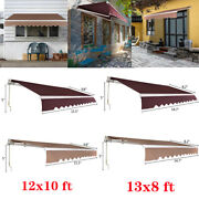 Outdoor Sun Shade Shelter Patio Awning Canopy Retractable Deck Cafe Backyard Us