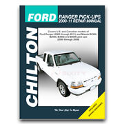 Chilton Repair Manual For 2000-2009 Mazda B4000 - Shop Service Garage Book Tl