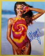 Heidi Klum Hand Signed 10 X 8 Photo Autograph Model Television Host And Producer